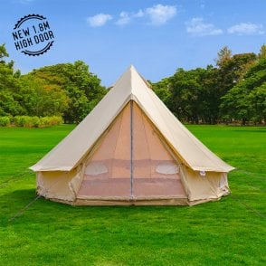4m Sandstone Bell Tent - Single Door & Luxury Bell Tents and Family Tents | Boutique Camping Australia