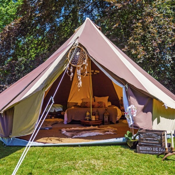 ... 5m Cookies and Cream Canvas Bell Tent ... & Sky Blue Bell Tent | Boutique Camping