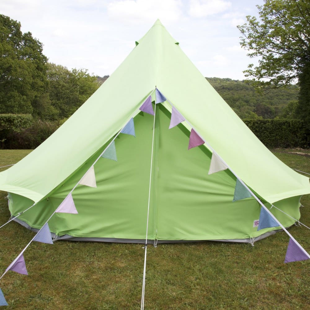 Apple Green Canvas Bell Tent With Zipped in Ground Sheet & Apple Bell Tent | Boutique Camping
